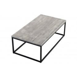 TABLE BASSE BOIS METAL GRIS...