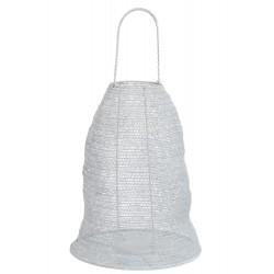 Lanterne gaze metal blanc